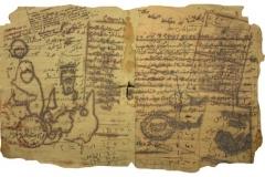 "Meera Abdulla Abdulrazzaq Abdulla Al Awadhi Photopolymer Intaglio on Notebook 8 x 12"""
