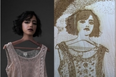 "Shaikha Fahed Saeed Juma Fahed Al Ketbi Digital Print (30 x 40"") Laser Cut Wood Block (11 x 17"")"